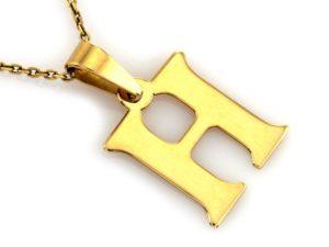 literka H złoto 0,585